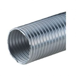 Félmerev aluminium cső NA100/3m